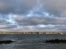 Widok na wodzie St Augustine plaża, Floryda, usa obrazy royalty free