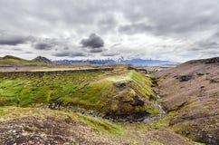 Widok na wulkanie lodowu i, Iceland Obraz Stock