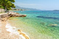 Widok na wybrzeżu w Orebic na peljesac półwysepie, Dalmatia, Chorwacja fotografia royalty free