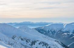 Widok na Wysokim Tatras blisko Kasprowy Wierch Ranku foto Fotografia Stock