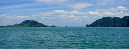 Widok na wyspie, Tajlandia Obrazy Stock