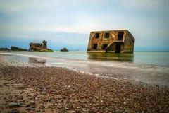 Widok na zaniechanych Ussr Północnych fotress, Liepaja Zdjęcie Stock
