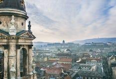 Widok nad Budapest, Węgry, od świętego Istvan bazyliki vi Obraz Stock