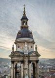 Widok nad Budapest, Węgry, od świętego Istvan bazyliki vi Zdjęcie Royalty Free
