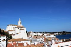 Widok nad cadaquez costa brava Spain Zdjęcie Stock