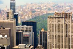 Widok nad central park od empire state building zdjęcie stock