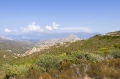 Widok nad Désert des Agriates Corsica Fotografia Stock