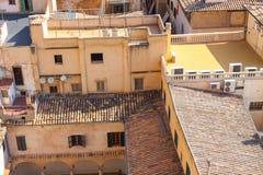 Widok nad dachami Palma de Mallorca od tarasu katedra Santa Maria Palma, także znać jako los angeles Seu palma Obraz Royalty Free