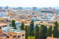 Widok nad dachami Palma de Mallorca od tarasu katedra Santa Maria Palma, także znać jako los angeles Seu palma Obraz Stock