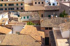 Widok nad dachami Palma de Mallorca od tarasu katedra Santa Maria Palma, także znać jako los angeles Seu palma Zdjęcie Royalty Free