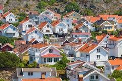 Widok nad dachami wioska Obrazy Royalty Free