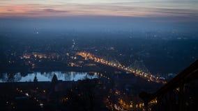 Widok nad Drezdeńskim w wieczór zdjęcie royalty free