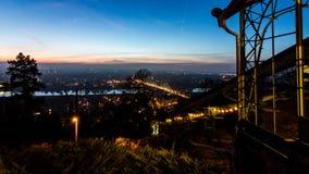 Widok nad Drezdeńskim w wieczór zdjęcia stock