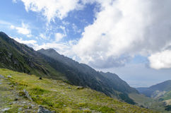 Widok nad Fagaras górami Fotografia Royalty Free