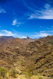 Widok nad górami Gran Canaria z Roque Nublo i Roque Bentayga obraz royalty free
