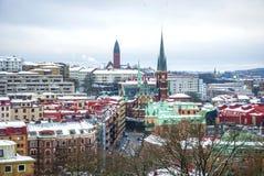 Widok nad Gothenburg w zimie, HDR fotografia Obrazy Royalty Free
