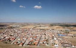 Widok nad grodzkim Consuegra, Hiszpania Obraz Stock