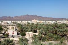 Widok nad grodzkim Nakhl, Oman Zdjęcia Royalty Free