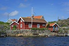 Widok nad Härön Od Szwedzkiego zachodniego wybrzeża zdjęcia royalty free