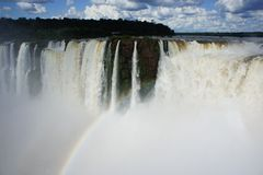 Widok nad Igussu spada w Ameryka Południowa Zdjęcia Royalty Free