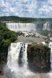 Widok nad Igussu spada w Ameryka Południowa Zdjęcie Stock