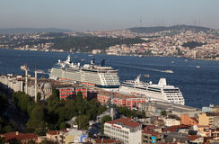 Widok nad Istanbuł, Turcja Obraz Stock