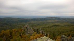 Widok nad jesieni wzgórzami Zdjęcia Royalty Free