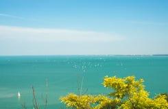 Widok nad jeziornym Balaton w Tihany, Węgry Fotografia Royalty Free