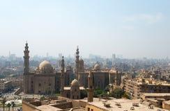 Widok nad Kair miastem z meczetami Obraz Stock