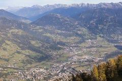 Widok nad Lienz w Austria Obraz Stock