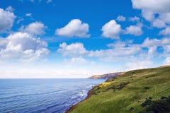 Widok nad linią brzegową Szkockie granicy Obraz Stock