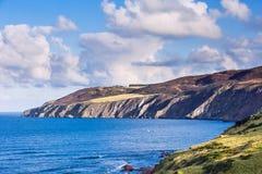 Widok nad linią brzegową Szkockie granicy Obrazy Royalty Free