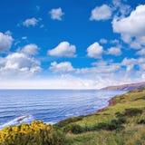 Widok nad linią brzegową Szkockie granicy Zdjęcie Stock