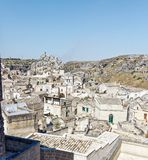 Widok nad Matera, unesco miejsce w Basilicata Fotografia Stock