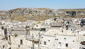 Widok nad Matera, unesco miejsce w Basilicata, Włochy Obrazy Royalty Free