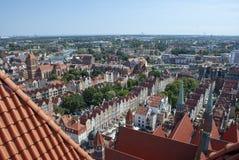 Widok nad miastem Gdański, Polska obrazy royalty free