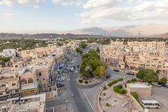 Widok nad miastem Nizwa, Oman Obrazy Stock