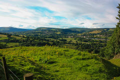 Widok nad moorland puszkiem dolina Obraz Stock