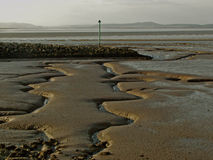 Widok nad morcambe zatoką, lancashire zdjęcie royalty free