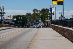 Widok nad mostem balboa wyspa fotografia royalty free