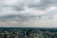 Widok nad Nairobia, Kenia, kontynent Afryka na chmurnym dniu zdjęcia stock