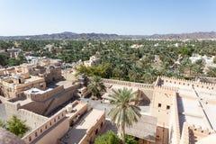 Widok nad Nizwa grodzką oazą, Oman Obraz Royalty Free