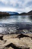 Widok nad Norweskim fjord Obraz Stock
