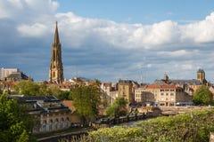 Widok nad nowożytną częścią Metz fotografia royalty free