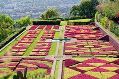 Widok nad ogródem botanicznym Jardim Botanico w Monte na madery wyspie obrazy royalty free