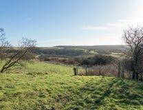 Widok nad południe Zestrzela, Sussex Zdjęcie Stock