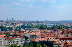 Widok nad Praga od Wałowego ogródu - Praga Zdjęcia Stock