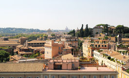 Widok nad rom (linia horyzontu) Obraz Royalty Free