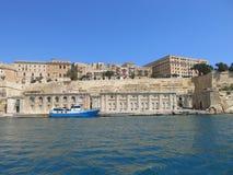Widok nad Rybim rynkiem Valletta Fotografia Stock
