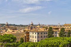 Widok nad Rzym dachami Obraz Stock